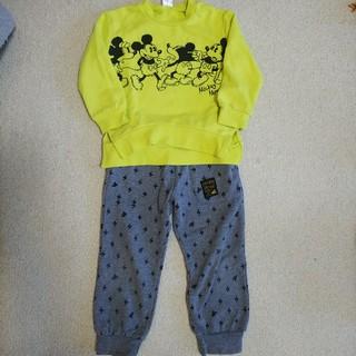 アカチャンホンポ(アカチャンホンポ)の男の子 ミッキー上下セット 100㎝(Tシャツ/カットソー)