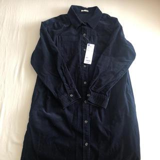 ジーユー(GU)のシャツ ネイビー 150㎝ 新品未使用(ブラウス)
