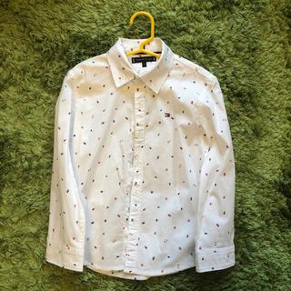 トミーヒルフィガー(TOMMY HILFIGER)の白長袖シャツ 110 トミーヒルフィガー(ブラウス)