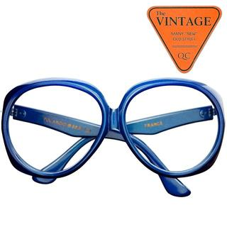 SALE!デッドUSAポラロイド社 ヴィンテージ フランス製オーバーサイズ丸眼鏡(サングラス/メガネ)