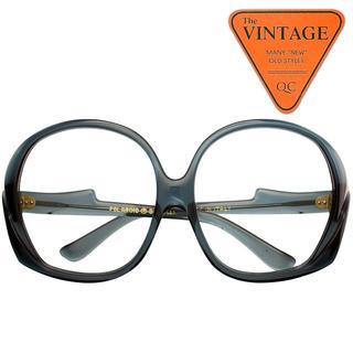 デッドストック USAポラロイド社 ヴィンテージ イタリア製 BIGサイズ丸眼鏡(サングラス/メガネ)