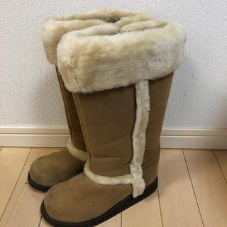 バーバリー(BURBERRY)のバーバリー スエードブーツ ベージュ 21cm(ブーツ)