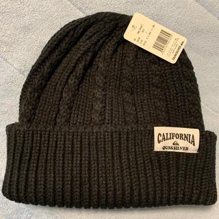 クイックシルバー(QUIKSILVER)のニット帽 黒 クイックシルバー(ニット帽/ビーニー)