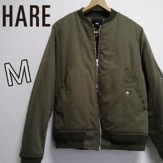 ハレ(HARE)の美品 HARE MA-1 ブルゾン M カーキ (ブルゾン)