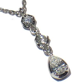 ヴァンドームアオヤマ(Vendome Aoyama)のヴァンドームvendome ダイヤモンド ネックレス ペンダント プラチナ950(ネックレス)