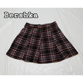 ベルシュカ(Bershka)のBershka チェック フレア スカート ミニスカート Sサイズ(ミニスカート)