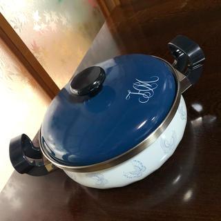 ハナエモリ(HANAE MORI)の新品 HANAE MORI シリーズ ホーローウエアー 24cm 3.5ℓ(鍋/フライパン)