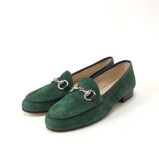 アーバンリサーチ(URBAN RESEARCH)のHeleneRouge ビットローファー 深緑  サイズ違い 左23㎝ 右24㎝(ローファー/革靴)