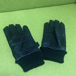 ビームス(BEAMS)のインナーは起毛素材 極暖 BEAMS メンズ レザー手袋(手袋)
