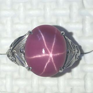 スターサファイア ヴィンテージリング ホワイトゴールド(リング(指輪))