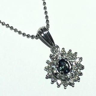 pt900 プラチナ アレキサンドライト ダイヤモンド ネックレス ペンダント(ネックレス)