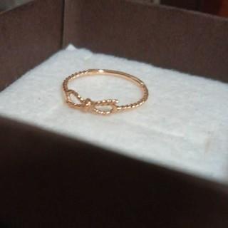 ジュエッテJouete K10YG リボン ピンキーリング 5号(リング(指輪))