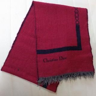 クリスチャンディオール(Christian Dior)のワインレッド マフラー(マフラー/ショール)