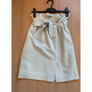 ウィルセレクション(WILLSELECTION)のウエストリボンスカート(ひざ丈スカート)