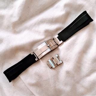 ロレックス(ROLEX)のサブマリーナ GMTマスター用ラバーベルト(Dバックルつき/バネ棒つき)(ラバーベルト)