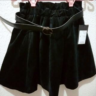 アベイル(Avail)の新品 Avail ベルト付き ベロア フレア スカート♥S しまむら(ミニスカート)