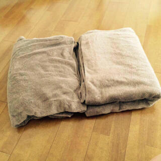 ムジルシリョウヒン(MUJI (無印良品))のタオルケット2点セット(布団)