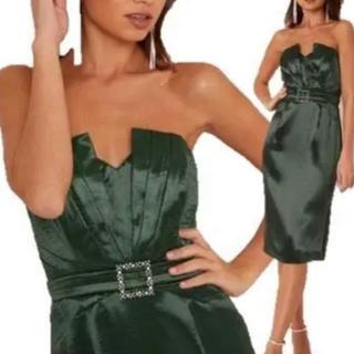 リプシー(Lipsy)のリプシー lipsy  サテン バンドゥ 2way ドレス(ミディアムドレス)