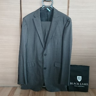 バーバリーブラックレーベル(BURBERRY BLACK LABEL)の42R◆総裏スーツ◆バーバリーブラックレーベル◇ライトグレー◇ガーメント付き♪(セットアップ)