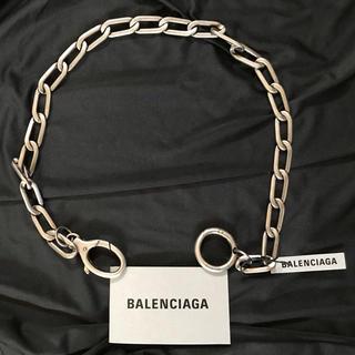 バレンシアガ(Balenciaga)の【新品希少】Balenciaga シルバー ラージ チェーン ループ ネックレス(ネックレス)