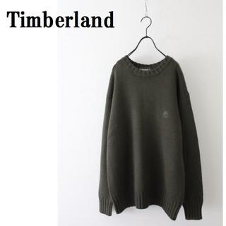 Timberland - ティンバーランド ニット セーター ワンポイント ダークグリーン系