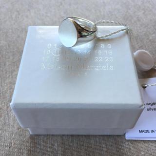 マルタンマルジェラ(Maison Martin Margiela)のM新品 メゾンマルジェラ シルバー オーバル シグネットリング 指輪 メンズ(リング(指輪))