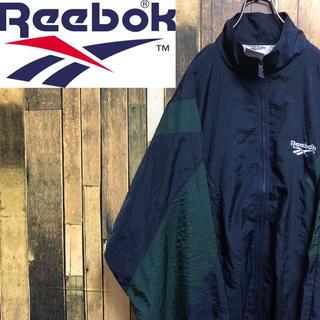 Reebok - 【激レア】リーボック☆ベクター刺繍ロゴマルチデザインナイロンジャケット 90s