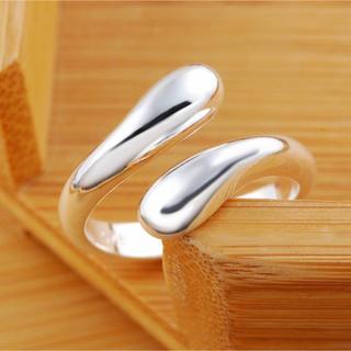 トゥデイフル(TODAYFUL)のシルバーリング ワイドカーブフォルムクロスオープンリング 指輪 新品(リング(指輪))
