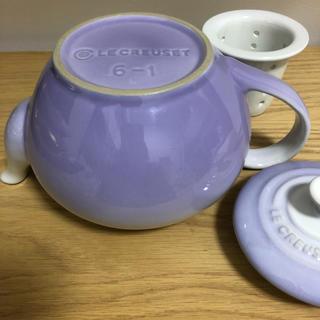 ルクルーゼ(LE CREUSET)のル・クルーゼ パウダーパープル  未使用品 ティーポット(食器)