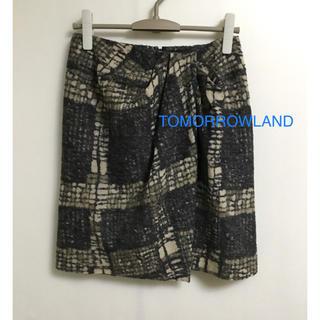 トゥモローランド(TOMORROWLAND)のTOMORROWLAND  ウール スカート   S(ひざ丈スカート)