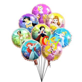 ディズニー(Disney)のプリンセスバルーン☆プリンセス☆バルーン☆風船☆8ピースセット☆パーティー(胎毛筆)