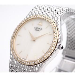セイコー(SEIKO)の【SEIKO】セイコー'クレドール腕時計' 18KTYG  ☆ダイヤモンド☆(腕時計(アナログ))