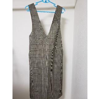ジーユー(GU)のGU ジャンパースカート チェックSサイズ(その他)
