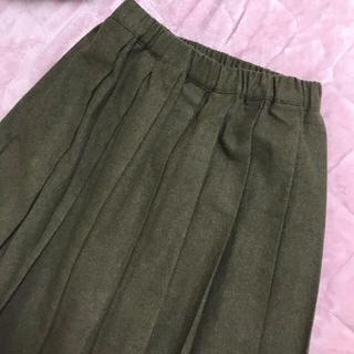 ロキエ(Lochie)のカーキ色 プリーツスカート(ロングスカート)