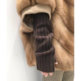アパルトモンドゥーズィエムクラス(L'Appartement DEUXIEME CLASSE)の新品 アパルトモン KNIT GLOVE  アームウォーマー ブラウン(手袋)