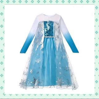 アナトユキノジョオウ(アナと雪の女王)の大人気!最安値 120 アナ雪 エルサ ドレス コスプレ 衣装(ワンピース)