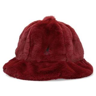 カンゴール(KANGOL)の[値下げ]Lサイズ  KANGOL SMU Faux Fur Casual(ハット)