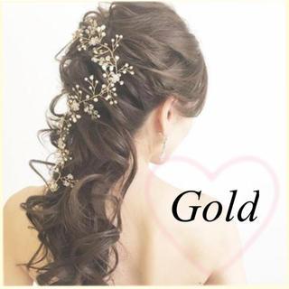 小枝 ヘッドドレス  ゴールド (ロングドレス)
