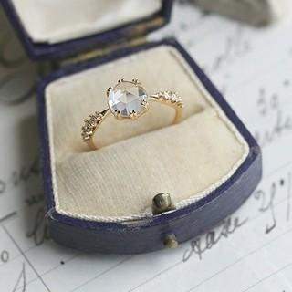 リング 指輪 18kコーティング レディース ビジュー 大人 上品 エレガント (リング(指輪))
