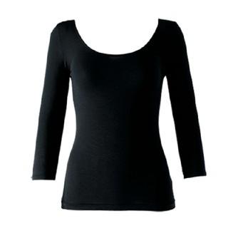 シャルレ - インナー(リヨセル)7分袖 襟広 ブラック L