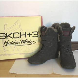 スケッチャーズ(SKECHERS)のスケッチャーズ ブーツ24,5㎝ グレー(ブーツ)