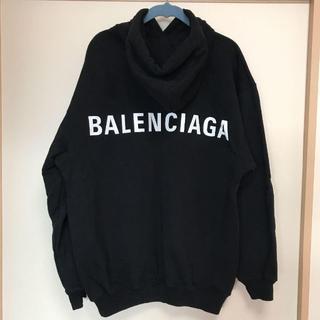 バレンシアガ(Balenciaga)のバレンシアガ バックロゴ パーカー ブラック XL(マウンテンパーカー)
