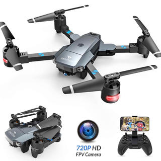 ドローン 折り畳み式 HD カメラ付き 軌跡飛行 高度維持機能 ヘッドレスモード(ホビーラジコン)