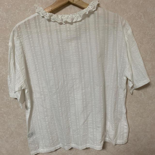 merlot(メルロー)のmerlot フリルネックブラウス レディースのトップス(シャツ/ブラウス(半袖/袖なし))の商品写真
