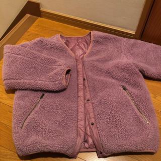 w closet - wcloset(^^)ピンク色のモコモコジャンパー。リバーシブル