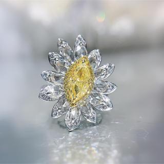 最新Gia♡1.01ctFLYダイヤモンド豪華花リング(リング(指輪))