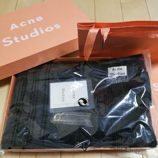 アクネ(ACNE)の新品Acne Studios 大判ストール ブラック(ストール/パシュミナ)
