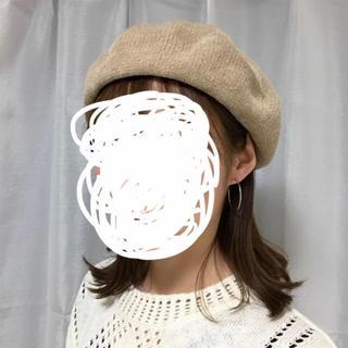 ケービーエフ(KBF)のベージュ ベレー帽(ハンチング/ベレー帽)