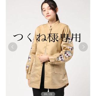 ディディジジ(didizizi)のキャットインカップ 袖刺繍 ジャケット レインコート didizizi (ブルゾン)