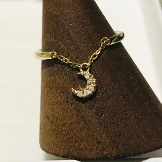K10 ダイヤモンド 三日月リング(リング(指輪))